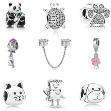 Lovely Ananas Starfish Owl Bead Charms Original Silver Plated Beads Fit Pandora Charms Bracelet & Bangles Women DIY Jewelry