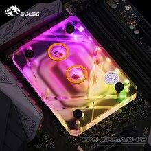 CPU-XPR-AM-V2 Bykski, pour blocs deau CPU en acrylique AMD, Compatible avec la série Ryzen 3000, bloc de refroidissement par eau pour microvoies