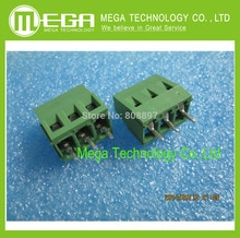 100 pces KF128-2P 2pin KF128-3P 3pin 5.0mm pino reto verde pcb parafuso terminal bloco conector