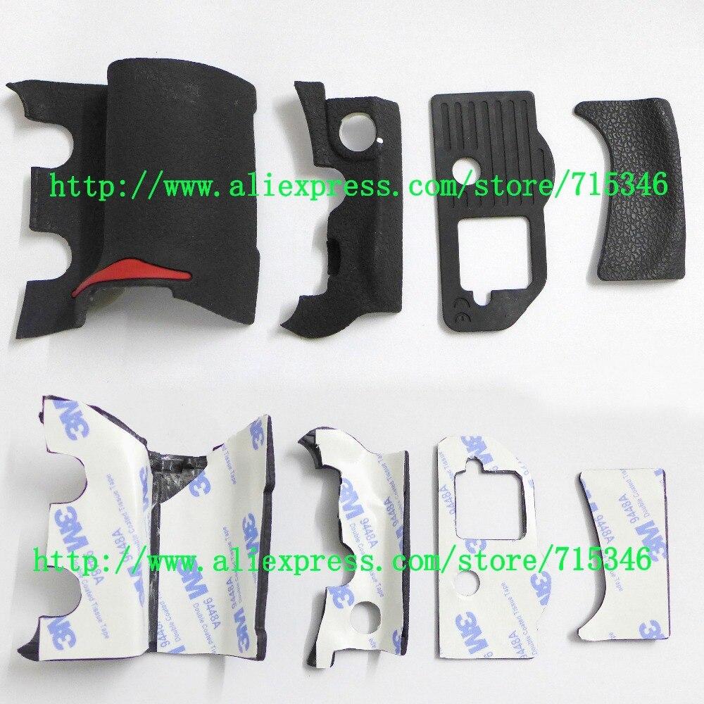 Nuevo conjunto Original de 4 unidades de cubierta de goma de agarre para Nikon D300 carcasa de goma de cuerpo de cámara Digital + cinta