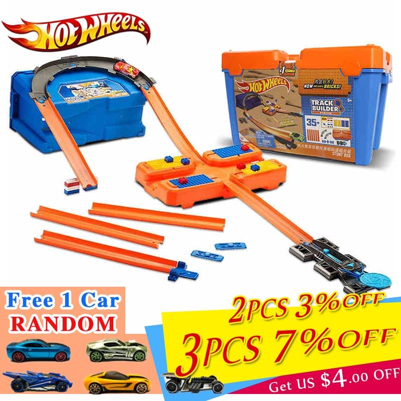 Juego de ruedas de coche calientes con ruedas, caja de almacenamiento multifuncional de plástico, pista de juguete para el coche, modelo DWW95 para regalo de cumpleaños