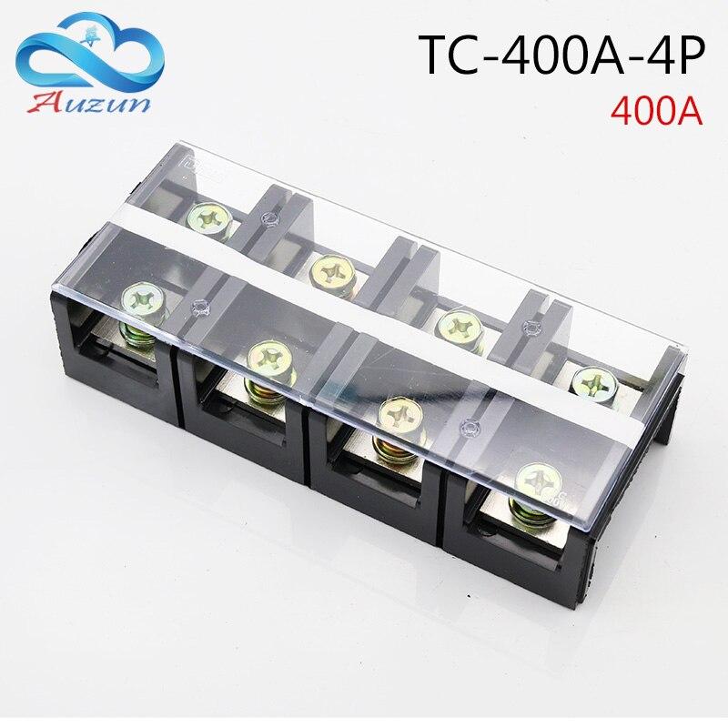 TC-4004 caja de terminal fijo gran corriente 400A4P terminal de conductor de cobre puro