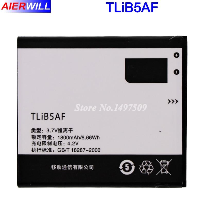 1800mah TLiB5AF batería para Alcatel One Touch Pop C5 OT 5036 5036D 5037 5037D 5037A 5037X