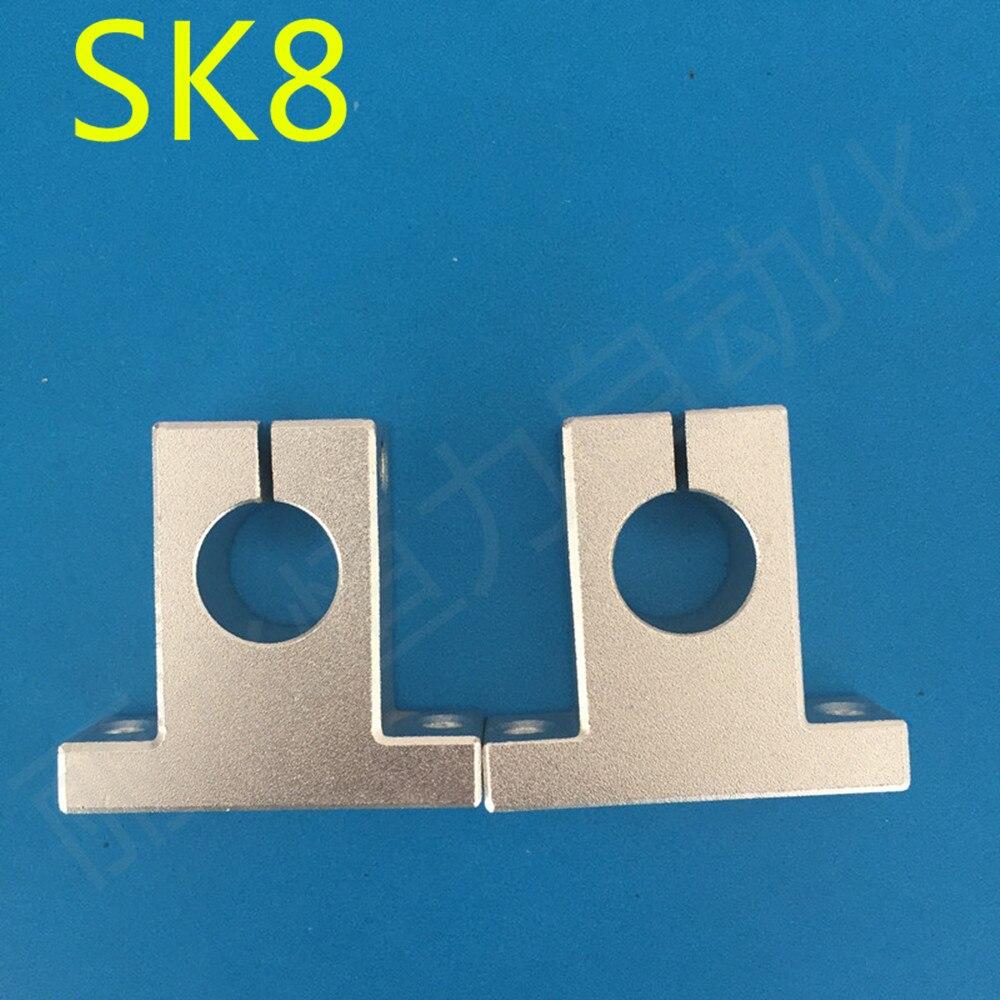 4 pçs/lote SK8 8mm Suporte de rolamento linear trilho de suporte do eixo XYZ Tabela CNC Router SH8A