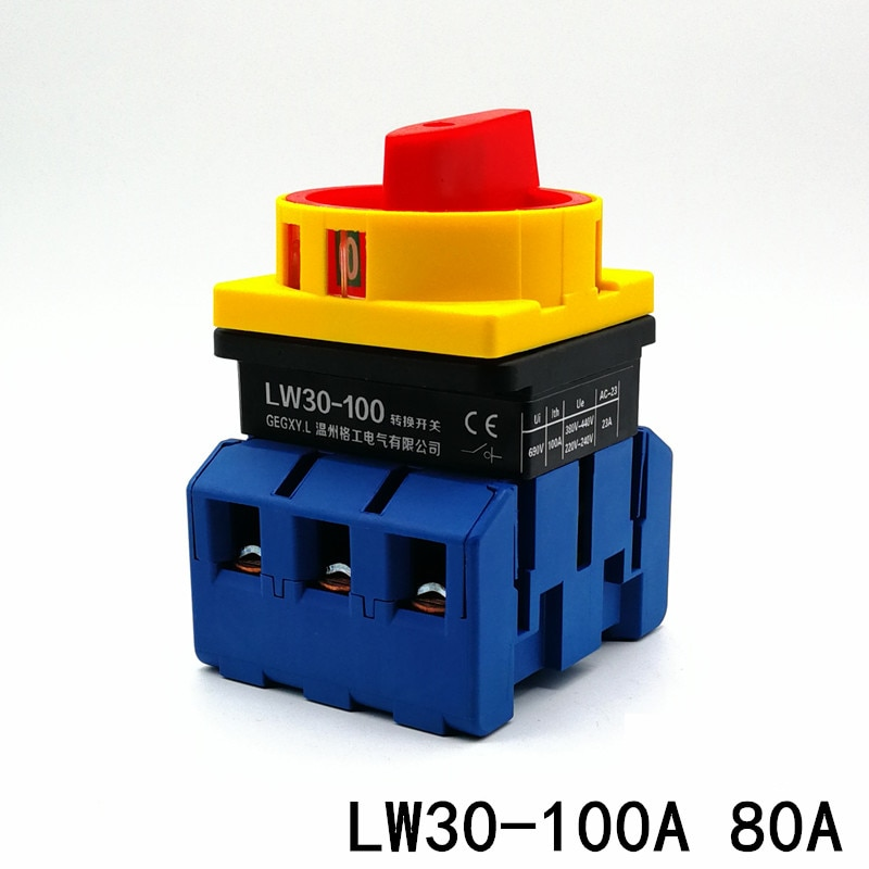 Interruptor de cambio de LW30-100A a interruptor giratorio LW28GS interruptor de rotura de circuito de carga JFD11