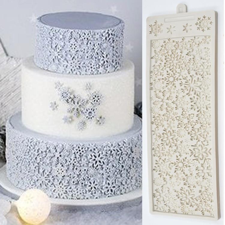 قالب من السيليكون على شكل رقاقات الثلج ، لتقوم بها بنفسك ، ثلاثية الأبعاد ، تصميم الكريسماس ، أقراص سكرية ، تزيين الكيك ، قالب من السيليكون لل...