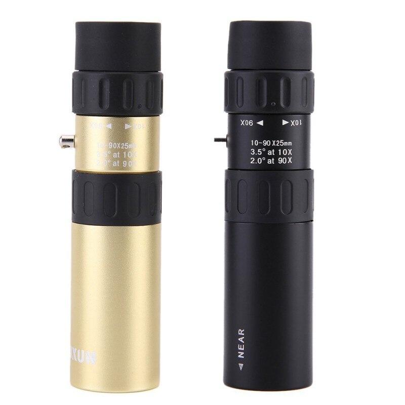 Telescópio lente zoom esportes de alta potência 10-90x25 telescópio monocular para caça acampamento spotting escopo caça binóculos