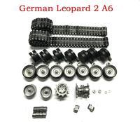 henglong HL3889-1 1/16 1:16 German Leopard 2 A6 RC Tank Upgrade parts Steel Gear box with motor/metal track/metal wheels hub set