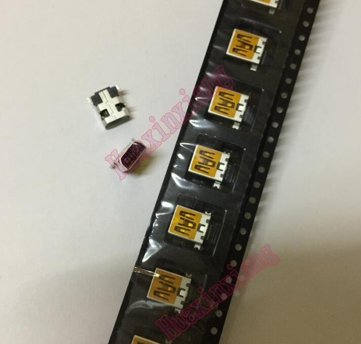 100PCS/Lot  MINI USB Female Jack/Socket connector 10Pin 10P DIP Front and SMT Hind