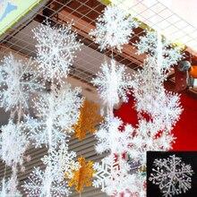 Ornements flocons de neige 30 pièces (10 sacs)   Ornements classiques et charmants, pour noël, fête, noël, décor de maison, tendance