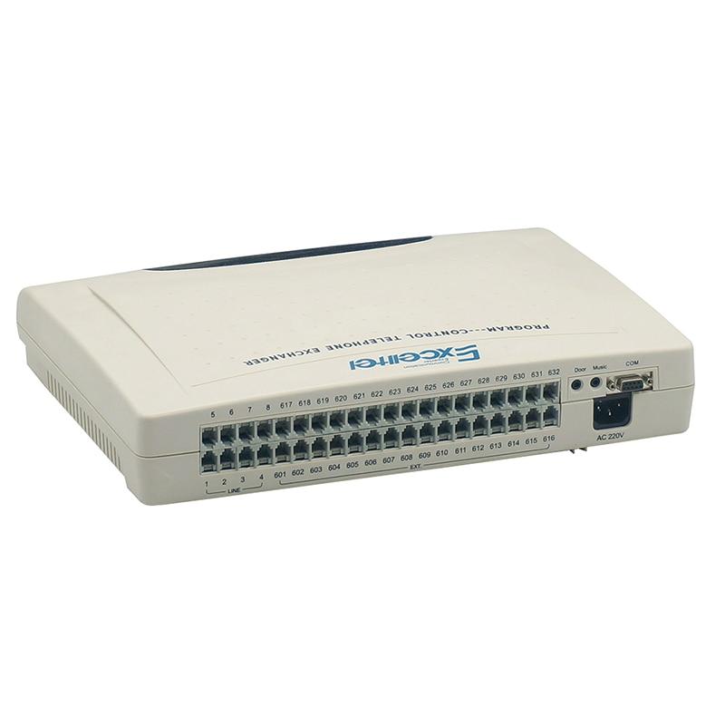EXCELLTEL sistema de interruptor corporativo PABX CP832-432 con teléfono analógico PH206 PH208/intercambio telefónico