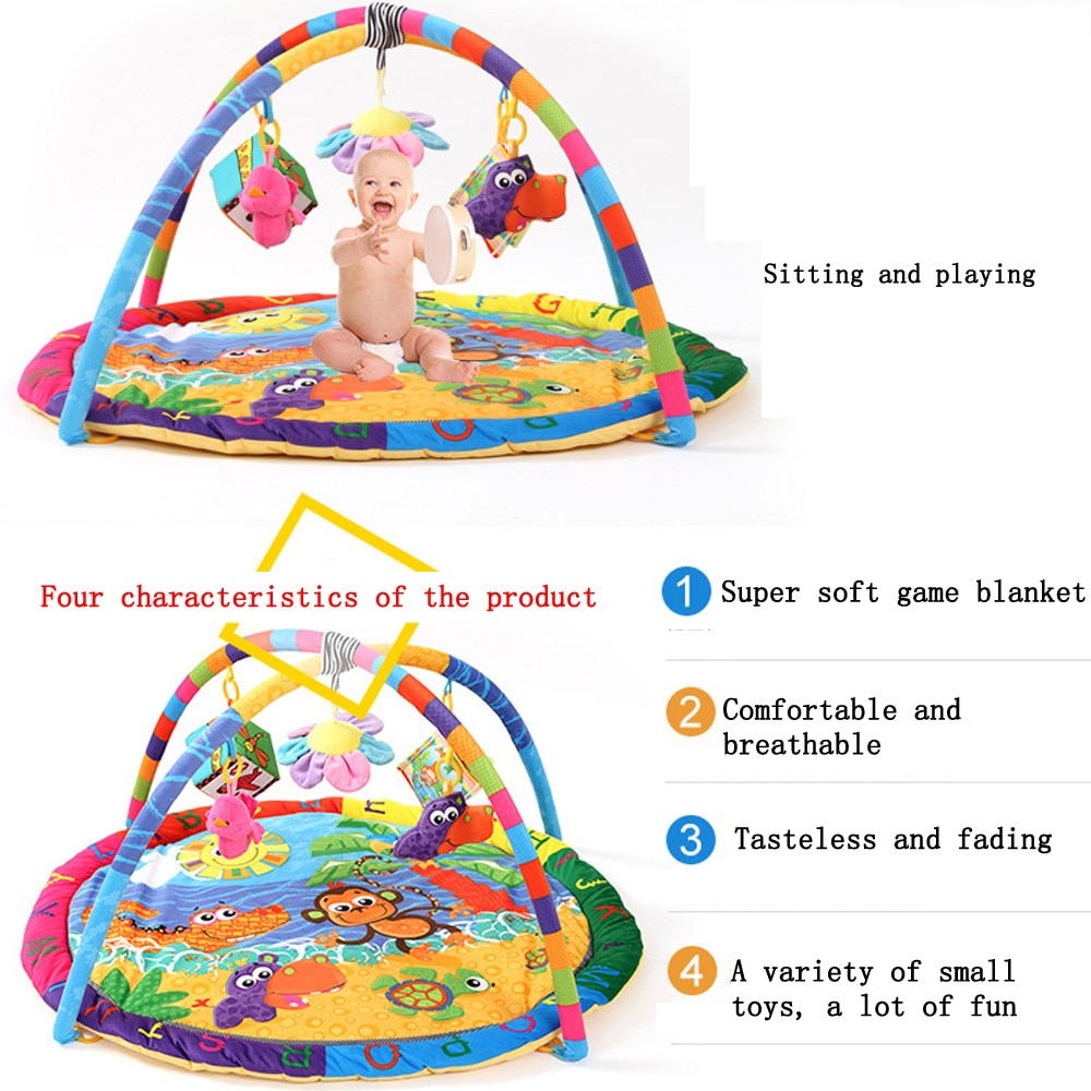 Baby Activity Play Mat Baby Gym Educational Fitness Frame Multi-bracket Baby Toys Game Mats