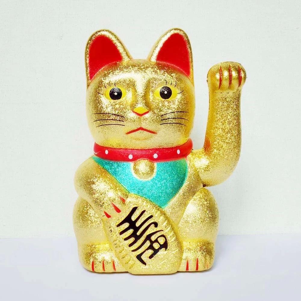 [ Fly Eagle ] Maneki Neko Gold Waving Lucky Feng Shui Fortune Money Cat Chinese Paw