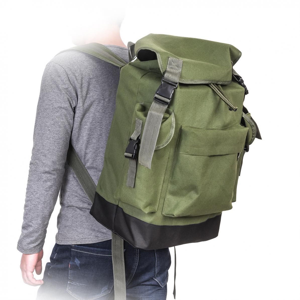 70L Tasche Große Kapazität Multifunktionale Armee Grün Leinwand Karpfen Angeln Tasche Angelgerät Rucksack
