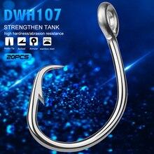20 قطعة برو beros ماركة المالحة DWH107 دائرة هوك الصيد هوك 13/0 #-16/0 # نموذج المقاوم للصدأ شص صنع في تايوان