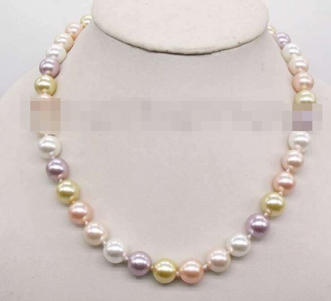 Envío Gratis> collar con cadena de perlas redondo multicolor 3235 Natural
