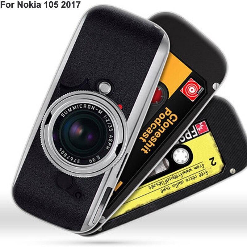 Funda de silicona para Nokia 105 2017, funda de móvil con dibujos retro pintados, funda blanda para Nokia 105 2017 TA-1010, carcasa de protección