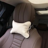 2pcs Car neck pillows headrest case for SsangYong Actyon Turismo Rodius Rexton Korando Kyron Musso Sports