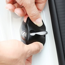 Автомобильные наклейки крышка дверного замка автомобиля чехол для Mercedes Benz AMG W211 W204 W210 W203 W205 W213 Cla аксессуары для автомобиля-Стайлинг