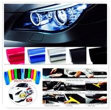 Araba Tuning far arka lambası sis işık dekor vinil duman Film Sticker çıkartma BMW E34 F10 F20 E92 E38 E91 e53 E70 X5 M M3