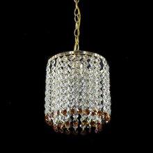Rétro fer cristal lustre lustres plafond Style américain lustre éclairage moderne E27 lampe à LED pour salon Bar chambre
