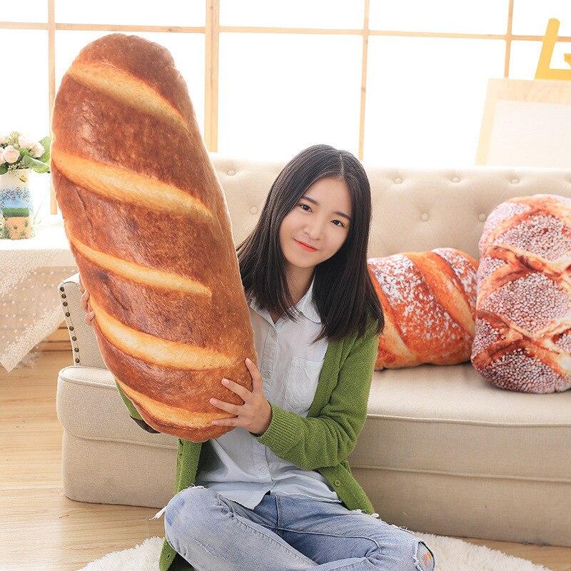 Śmieszne chleb kształt poduszki poduszki kreatywny poduszka na szyję z wewnętrzną opieki zdrowotnej poduszki poduszka do spania 50/70 cm