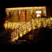 Guirlande lumineuse de noël 5 m, 1x lumières de noël décoration dextérieur 5m Droop 0.4-0.6m