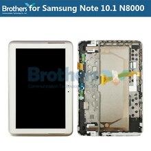 ЖК-дисплей для Samsung Galaxy Note 10,1 N8000 N8010 ЖК-дисплей с рамкой кодирующий преобразователь сенсорного экрана в сборе N8000 N8010 планшетный ЖК-дисплей AAA