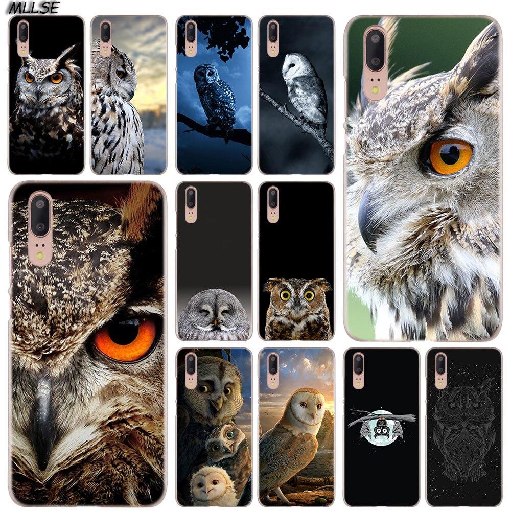 MLLSE pájaro águila Animal búho noche moda cubierta de funda transparente para Huawei P30 P20 P10 P9 P8 Lite 2017 P30 P20 Pro Mini P Smart Plus