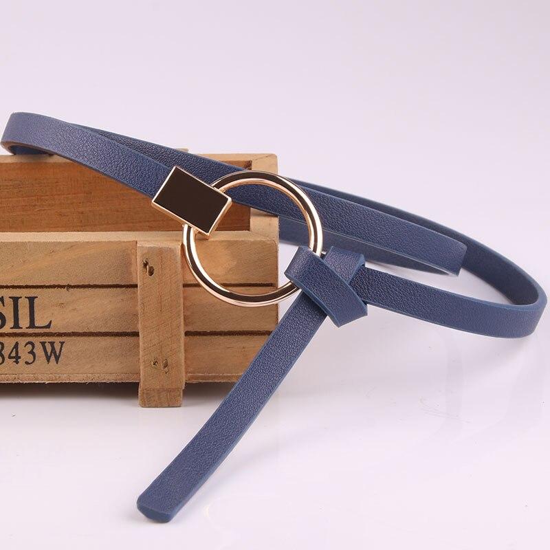 Gran oferta, Cinturón fino para mujer, Cinturón de piel sintética redondo de alta calidad, Jersey ajustable con correa para falda