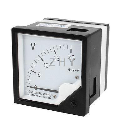 DC 450V 500V 600V 750V 1000V Medición de Panel de rango de montaje del voltímetro del medidor de tensión de 6C2 80mm x 80mm