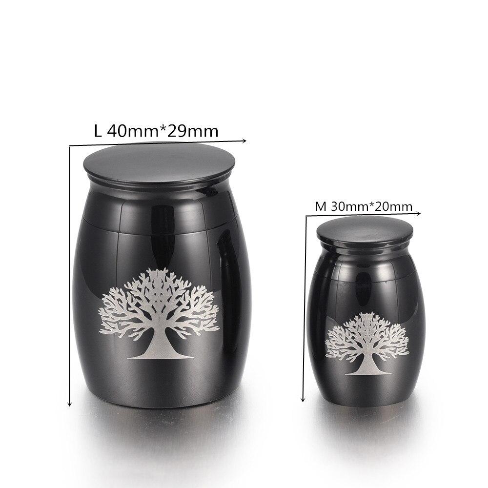 Urna de recuerdo funerario IJU009 de acero inoxidable con grabado personalizado de Mini urna de cremación para cenizas humanas