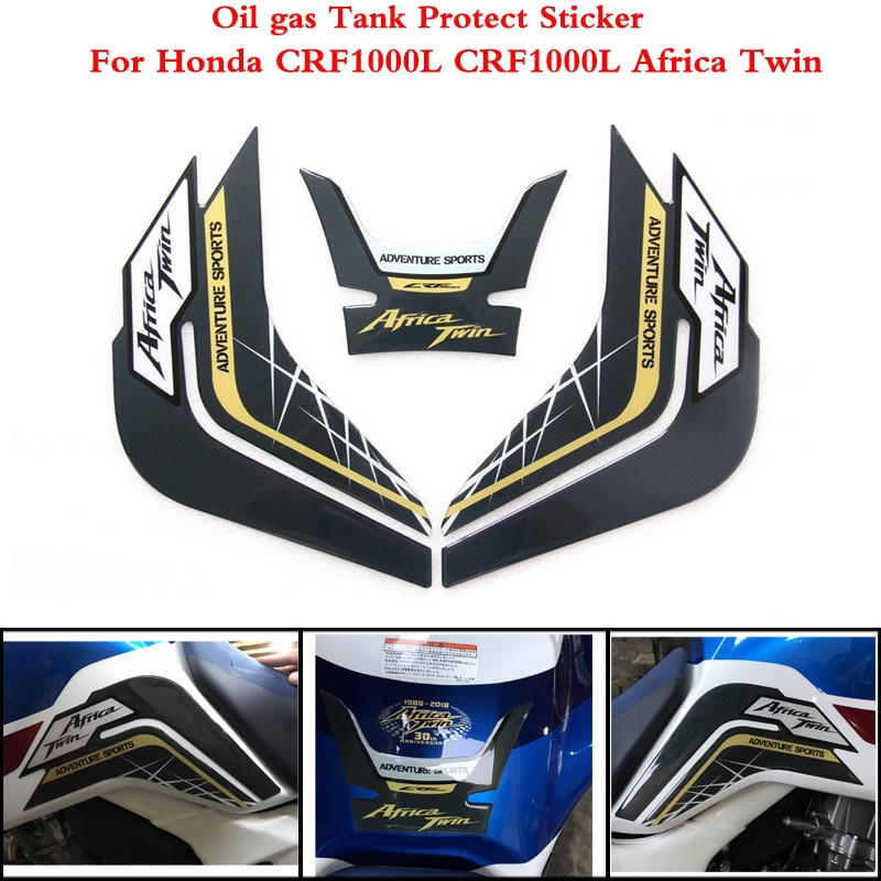 2 цвета для Honda CRF1000L CRF 1000L CRF1000 L Африка Twin 2014-2019 защитная накладка на бак мотоцикла Наклейка с рыбьей костью