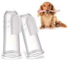 Brosse à dents 3 pièces pour chiens   Brosse à dents à doigts souples pour animaux de compagnie, brosse dentaire buccale pour enlever les mauvaises haleine, brosse de soins dhygiène pour dents