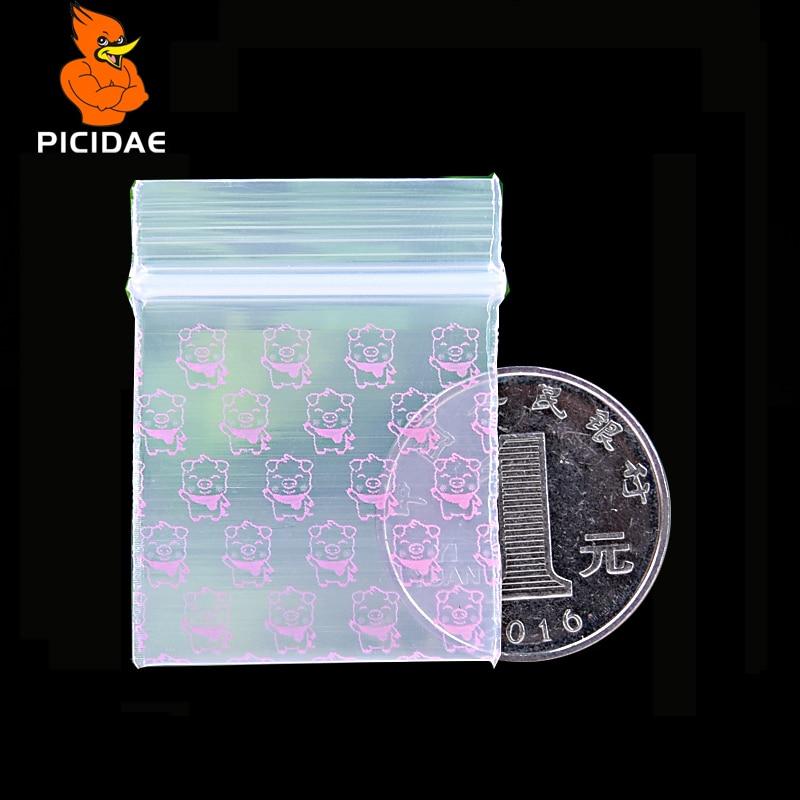 Розовая свинья Мини Миниатюрный Zip Lock Ручка Пластиковая Упаковка Мешок Пищевых