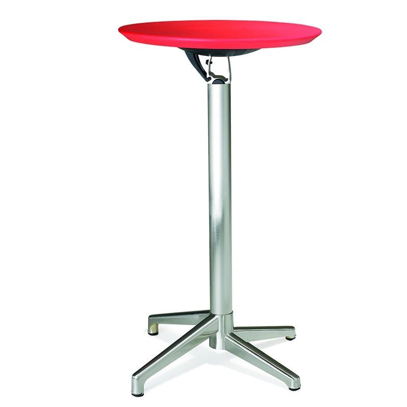 Mesa de centro de pie de 105cm de altura con pies de aluminio/plegable fácil de guardar, diseño resistente de 10kg/uso en exteriores e interiores