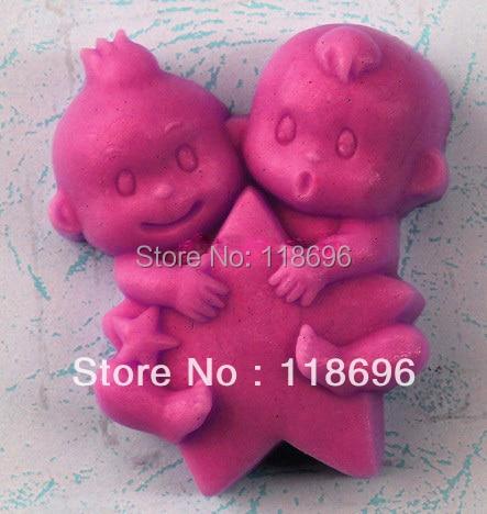 Molde de silicona de modelado Gemini molde de Decoración de Pastel molde de torta molde de jabón manual hecho a mano n. ° SO103
