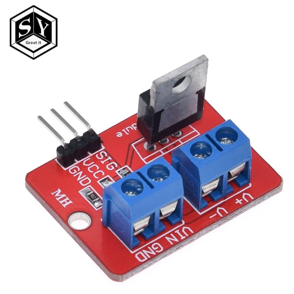 1 шт. Great IT 0-24 в топ Mosfet Кнопка IRF520 драйвер MOS модуль для Arduino MCU ARM Raspberry pi