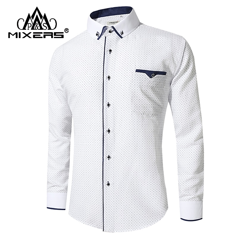 New Arrival 2018 White Shirt Men Long Sleeve Business Casual Shirts Men Dress Shirts Comfortable Clothing Camisa Masculina