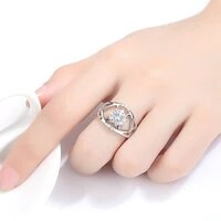 hpxmas exquisite hollow ring clear zircon ring for women engagement wedding jewelry female decoration