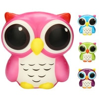 Dropship 2018 Exquisite Fun Adorable Owl KIds Toys Slow Rising Cartoon Doll Cream Scented Stress Relief Antistress Toys Adult
