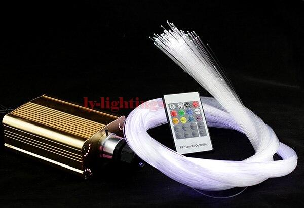 Kit de lumière de fibre optique de mode moteur de lumière LED + fibres optiques claires rvb changement de couleur étoiles support de lumière de nuit fibres personnalisées