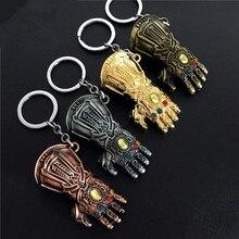 Super héros héros film Thanos Avengers 3 illimité Tanos illimité gants Costume Cosplay gants modèle porte-clés