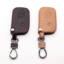 leather car key cover case for Lexus smart key ES 300h 250 350 IS GS CT200h RX CT200 ES240 GX400 LX570 RX270 remote control case