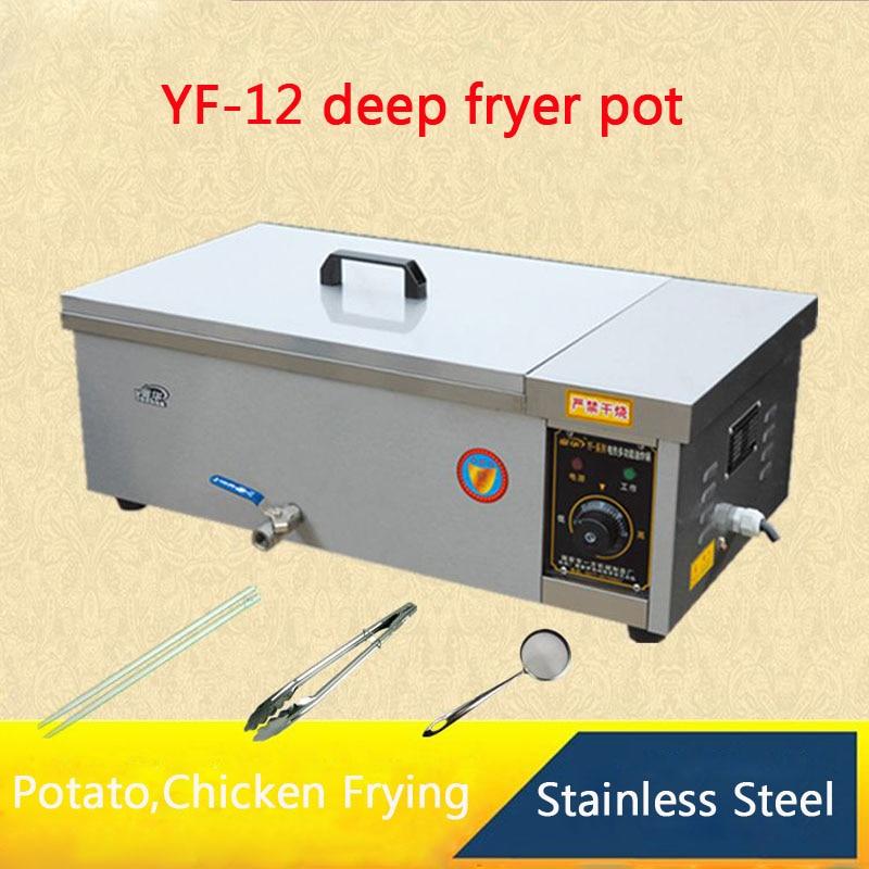 YF-12 Multi-function deep fryer pot,Commercial Household Fried furnace For Potato,Chicken,dough sticks Frying Machine