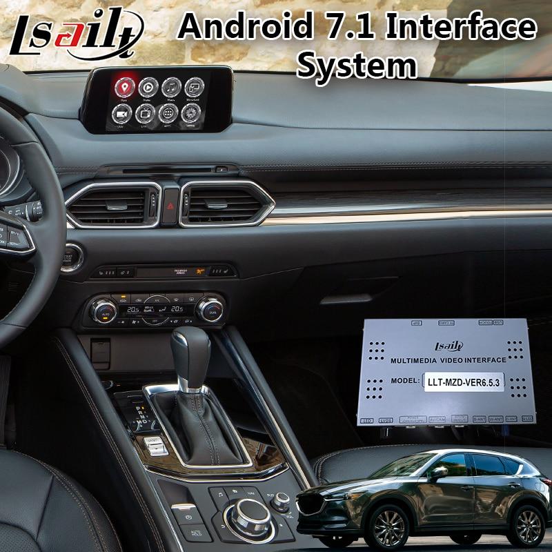 Lsailt Android навигационный видеоинтерфейс для Mazda CX-5 2016-2020 год с беспроводной системой carplay android auto adas MZD