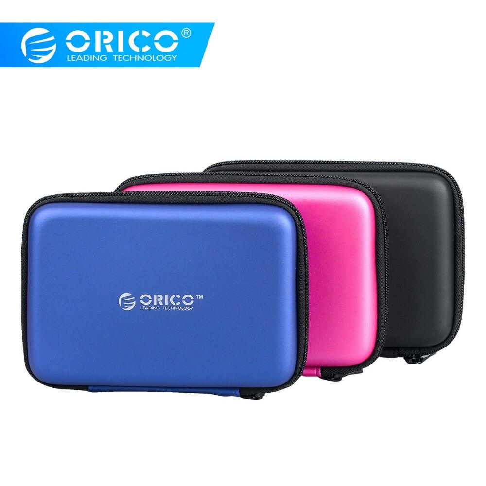 Портативный жесткий диск ORICO PHB-25 2,5 дюйма, чехол для переноски, для картридера, кабели-черный/синий/розовый
