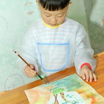 The children's painting graffiti art painting clothing kindergarten antifouling apron reverse waterproof overalls dinner apron enlarge