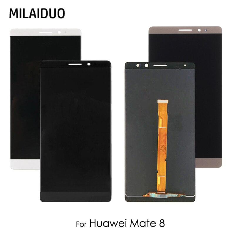 Pantalla LCD para Huawei Mate 8 Mate8 MT8 NXT-AL10 NXT-CL00 NXT-DL00 NXT-L09 MONTAJE DE digitalizador con pantalla táctil blanco y negro sin marco