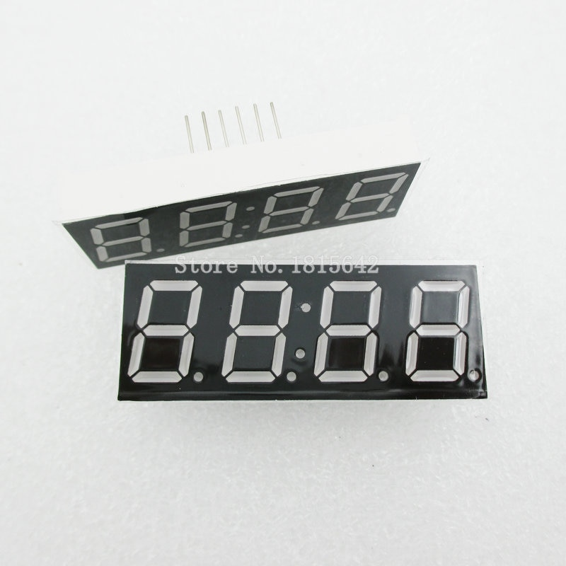 """Tubo Digital de cátodo común de 4 bits y 4 bits, 5 unidades por lote, 0,56 """"y 0,56 pulgadas Pantalla LED roja, 7 dígitos, de segmento (reloj)"""